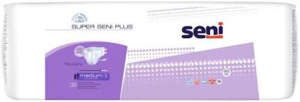 Подгузники для взрослых Seni Super Plus размер M 75-110 см 30 шт.