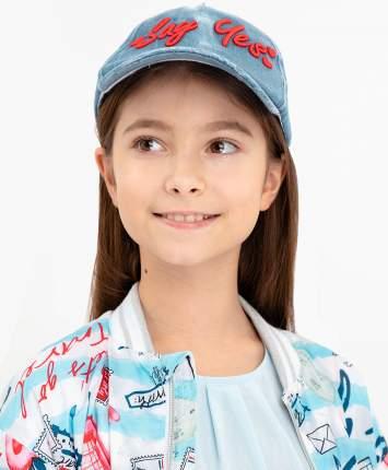 Кепка для девочек Button Blue, цв. голубой, р-р 54