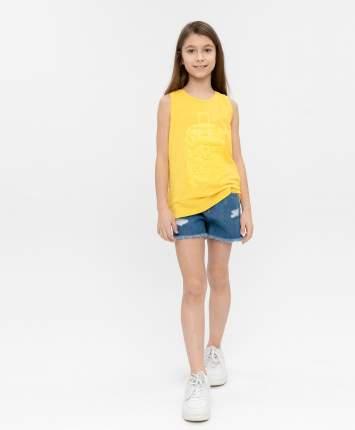 Майка для девочек Button Blue, цв. желтый, р-р 122