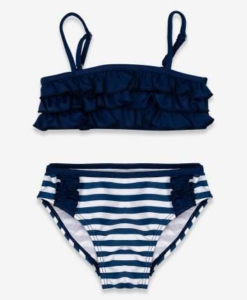 Купальник для девочек Button Blue, цв. синий, р-р 104-110
