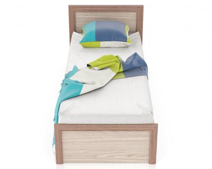 Односпальная кровать Мебельный Двор Аврора 800 ясень шимо тёмный/светлый, 88х206х80 см