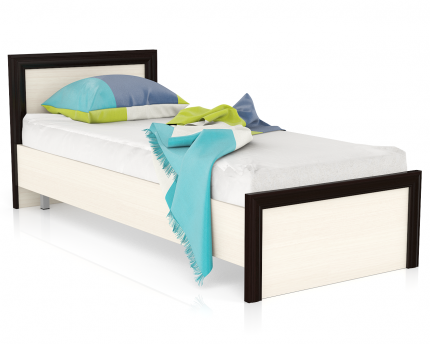 Односпальная кровать Мебельный Двор Аврора 800 дуб/венге, 88х206х80 см