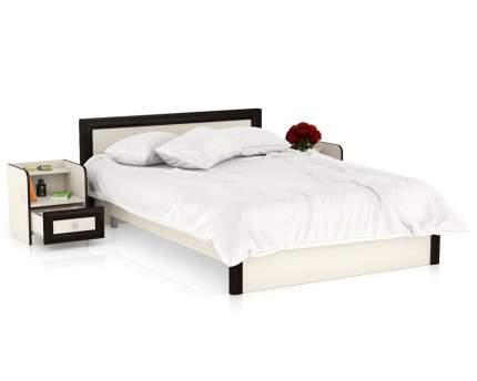 Полутороспальная кровать с тумбами Мебельный Двор Аврора 1400 дуб/венге