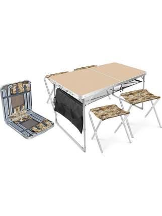 Туристический стол со стульями Nika ССТ-К3 кофе с молоком