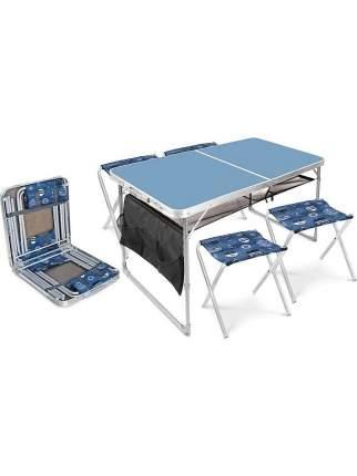Туристический стол со стульями Nika ССТ-К3 голубой