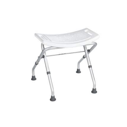 Табурет RIDDER А0050301 50х31х47 см, белый/матовый хром