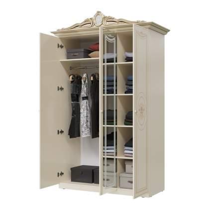 Шкаф 3-х дверный Мэри-Мебель Грация СГ-01 слоновая кость, 147х64х231 см
