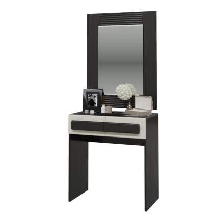 Туалетный столик с зеркалом Мэри-Мебель Престиж венге цаво/жемчужный лён, 70х38х173 см
