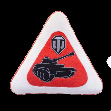 Автомобильная подушка World of Tanks в виде знака WG043336