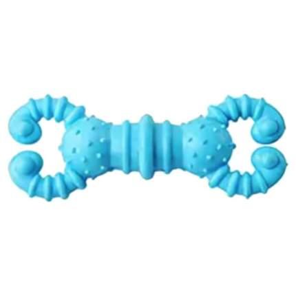 Жевательная игрушка для собак HOMEPET Гантелька crabs, синий, длина 12.7 см