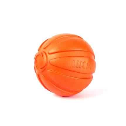 Мячик для собак крупных пород LIKER, оранжевый, 9 см
