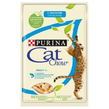 Влажный корм для кошек Cat Chow Adult, с лососем и зеленым горошком в желе, 85г