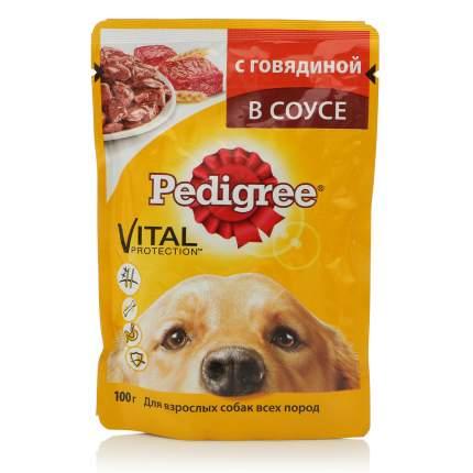 Влажный корм для собак Pedigree Vital, говядина в соусе, 100г