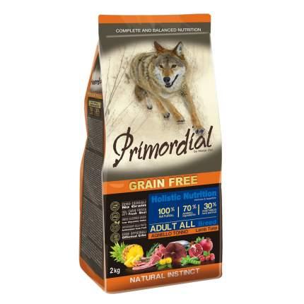 Сухой корм для собак Primordial Grain Free Adult All, тунец, ягненок, 12кг
