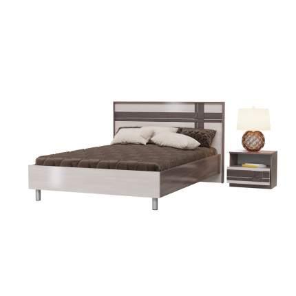 Кровать 1400 Гранд-Кволити Презент тёмный/бодега светлый, 202х208х102 см