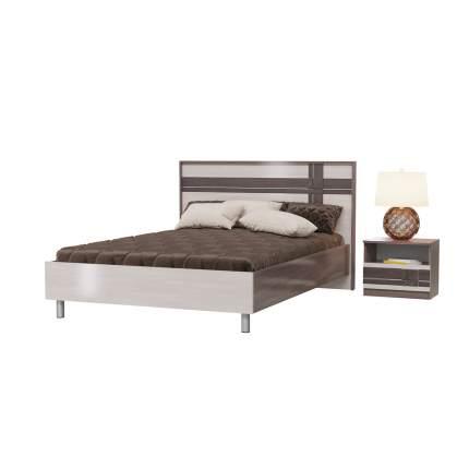 Кровать 1400 Гранд-Кволити Презент бодега тёмный/светлый, 202х208х102 см