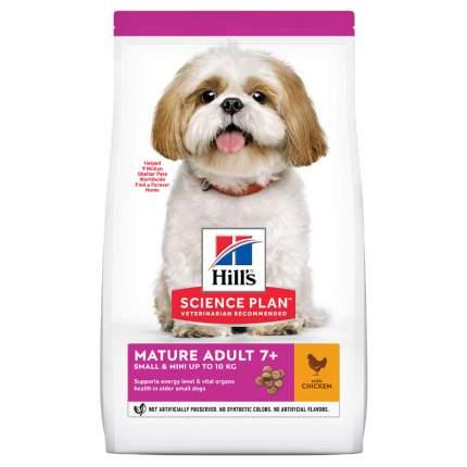 Сухой корм для собак Hill's Science Plan Mature Adult 7+ Small&Miniature, курица, 1,5кг