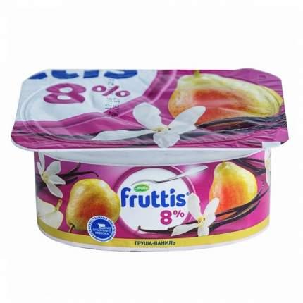 Продукт йогуртный Фруттис Суперэкстра вишневый пломбир груша ваниль 8% 115 г