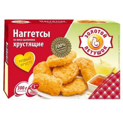 Наггетсы Золотой петушок мз мяса цыпленка хрустящие 300 г