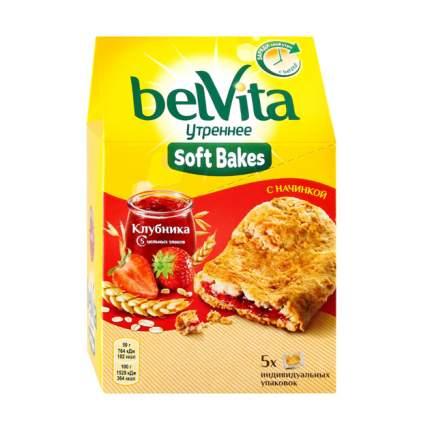 Печенье BelVita Утреннее с цельнозерновыми злаками, клубничной начинкой 250 г