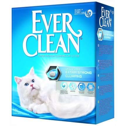 Комкующийся наполнитель для кошек Ever Clean Extra Strong Clumping Unscente глиняный, 10кг