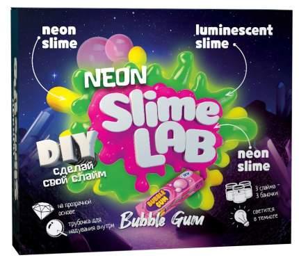 Набор для создания слаймов Юный химик Слайм лаб Неон Бабл гам