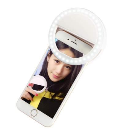 Селфи кольцо вспышка, лампа для мобильной фото/видео съемки Selfie Ring Light (Белое)