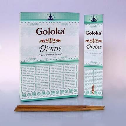 Благовония Goloka Divine блок 12 шт с пыльцой для развития ясновидения
