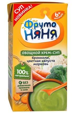 Пюре ФрутоНяня крем-суп из капусты брокколи, цветной капусты и моркови 200 мл