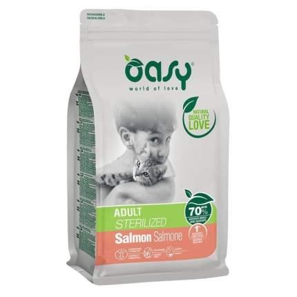 Сухой корм для кошек Oasy Dry Cat , ля взрослых стерилизованных, лосось, 1.5кг