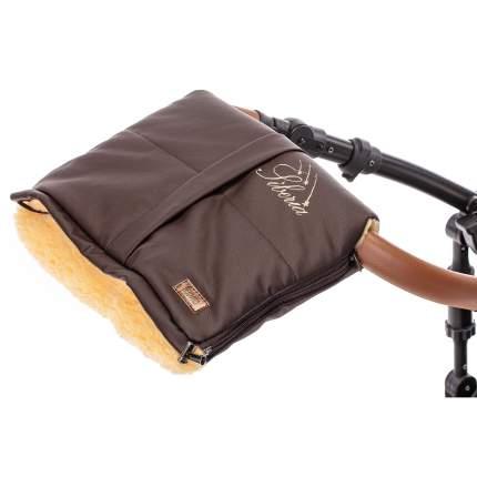 Муфта меховая для коляски Nuovita Siberia Lux Pesco шоколад