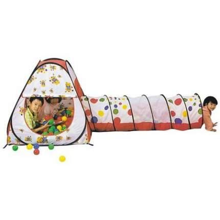Игровой домик Calida + 100 шаров Конус + туннель (104х104х110)+(48х180см)