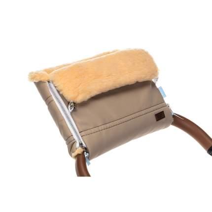 Муфта меховая для коляски Nuovita Alpino Lux Pesco капучино