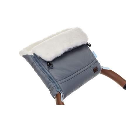 Муфта меховая для коляски Nuovita Alpino Bianco серая