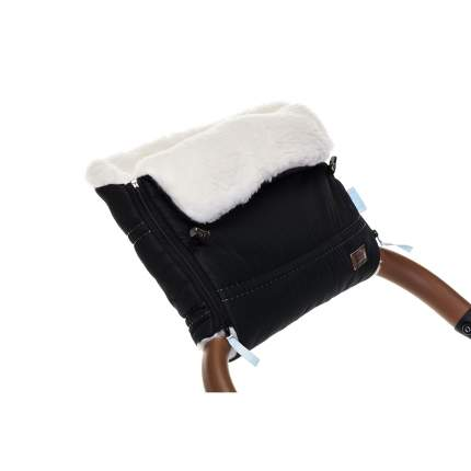 Муфта меховая для коляски Nuovita Alpino Bianco черная
