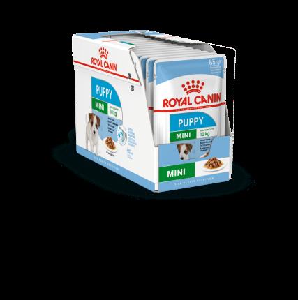 Влажный корм для щенков ROYAL CANIN Mini Puppy, для мелких пород, мясо, 12шт по 85г