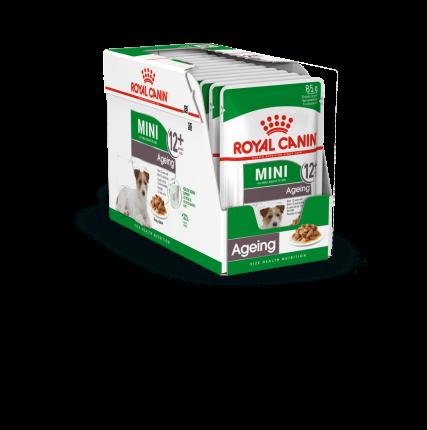 Влажный корм для собак ROYAL CANIN Mini Ageing 12+, для пожилых, мясо, 12шт по 85г