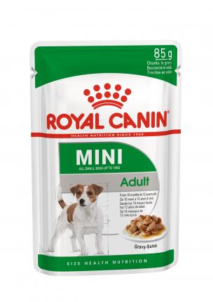 Влажный корм для собак ROYAL CANIN Mini Adult, для мелких пород, мясо, 12шт по 85г