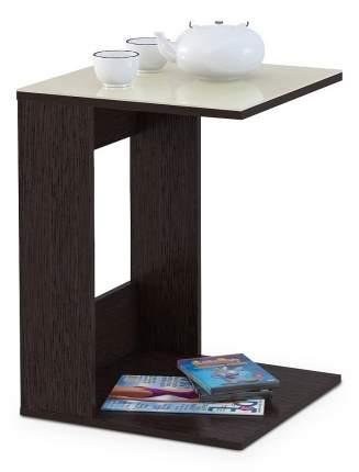 Журнальный столик Мебелик BeautyStyle 3 1058 45х45х61,5 см, венге/стекло бежевое
