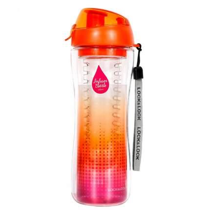 """Бутылка для напитков """"LocknLock"""" BisFree с фильтром,  спортивная, 650 мл, оранжевая"""