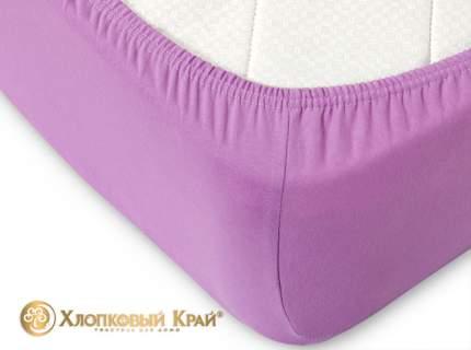 Простыня на резинке Хлопковый Край Радуга желаний 160x200 см фиолетовый