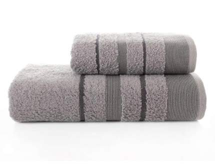 Набор махровых полотенец KARNA REGAL SET серый 50х90 и 70х140