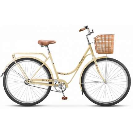 """Велосипед Stels Navigator 28"""" 325 Lady Z010 (с корзиной), Слоновая кость/Коричневый"""