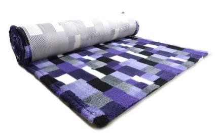 Коврик для собак ProFleece В Клетку полиэстер, угольный, фиолетовый, 160x100 см