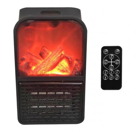 Тепловентилятор Flame Heater черный