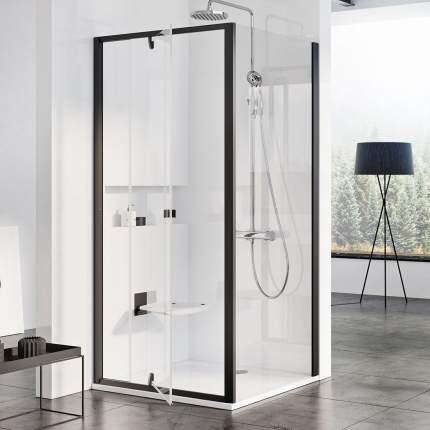 Душевая дверь Ravak Pivot PDOP1 80 см профиль и ручки черные прозрачное стекло 03G40300Z1