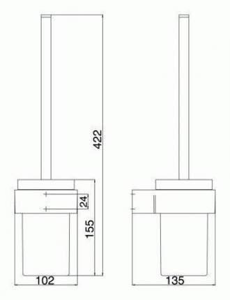 Ершик EMCO LIAISON, подвесной, хром 1715 001 00