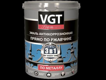 """Эмаль VGT антикоррозионная """"Профи"""" по металлу  серая 0.6 кг"""
