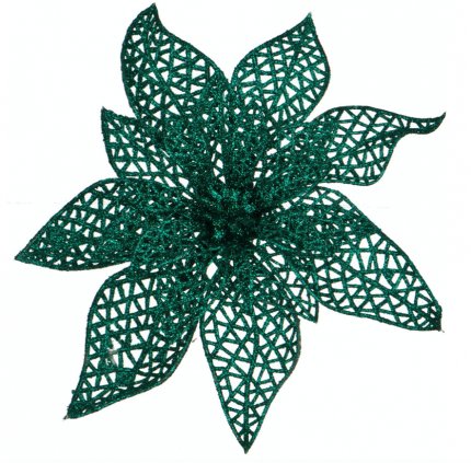 Изделие декоративное Lefard Пуансетия Цвет: Аквамарин (18 см)