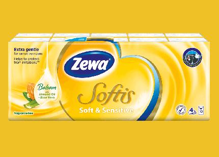 Бумажные платки Zewa Софтис 9х10